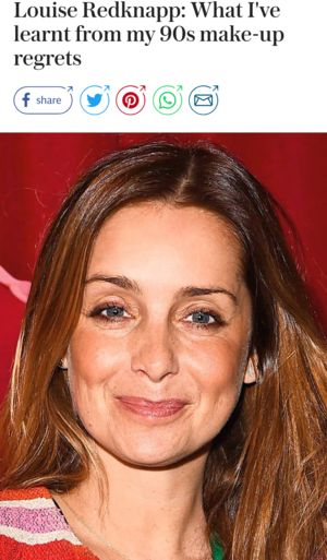 Blog. Louise Redknapp